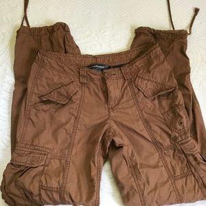 brown cargo pants . Noram Kamali